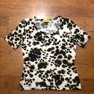 St. John's ink print top size medium